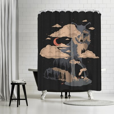 NDTank At The Foot of Fox Mountain Shower Curtain