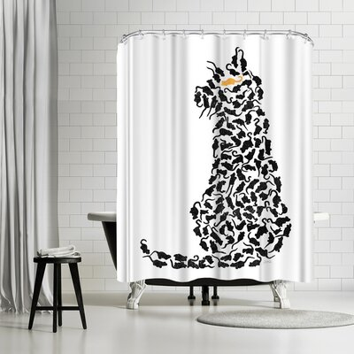 NDTank Cat and Mouse Shower Curtain