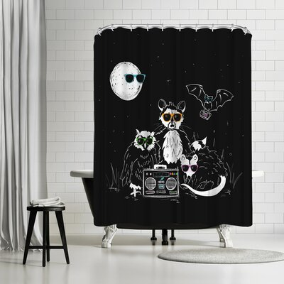 NDTank We Wear Our Sun Glasses At Night Shower Curtain
