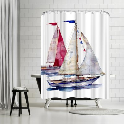 Harrison Ripley Yachts Shower Curtain