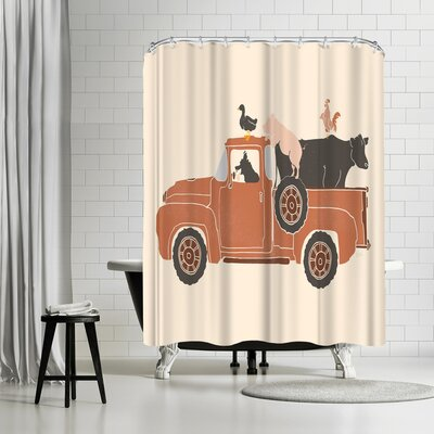 NDTank Farm Use Shower Curtain