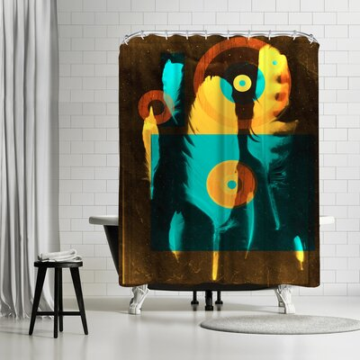 NDTank Feathers Shower Curtain