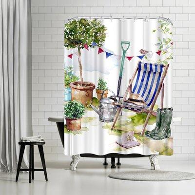Harrison Ripley Striped Deckchair Shower Curtain