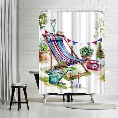 Harrison Ripley Deckchair in the Garden Shower Curtain