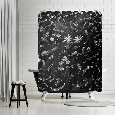 NDTank Flowers in Chalk Shower Curtain