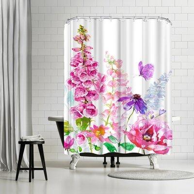 Harrison Ripley Foxglove Floral Shower Curtain
