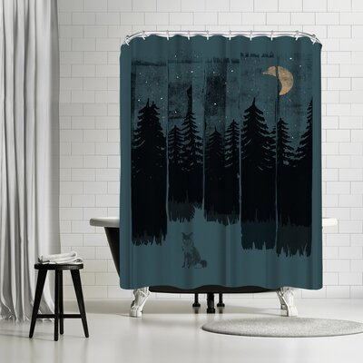 NDTank Fox in the Wild Night Shower Curtain