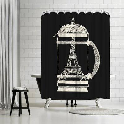 David Fleck French Press Shower Curtain