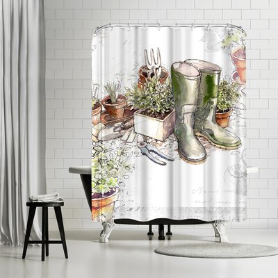 Harrison Ripley in the Garden Shower Curtain