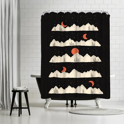 NDTank Moon Rises Moon Sets Shower Curtain