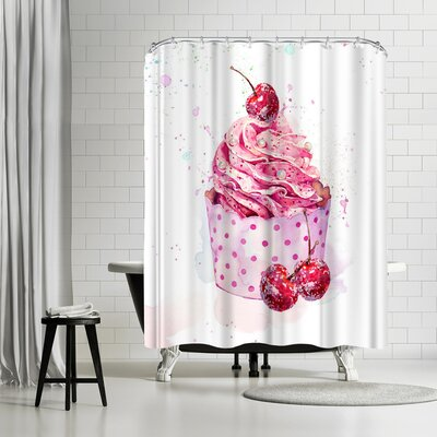 Harrison Ripley Cupcake Shower Curtain