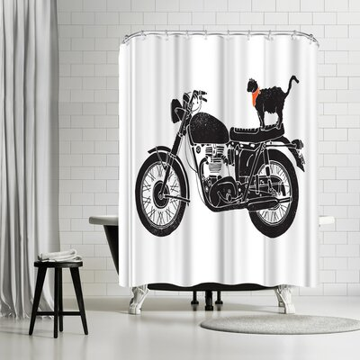 NDTank Purrfect Road Trip Shower Curtain