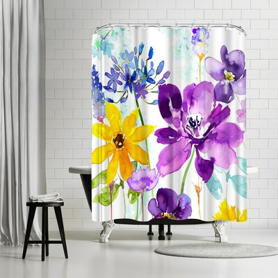 Harrison Ripley Floral Shimmer Shower Curtain