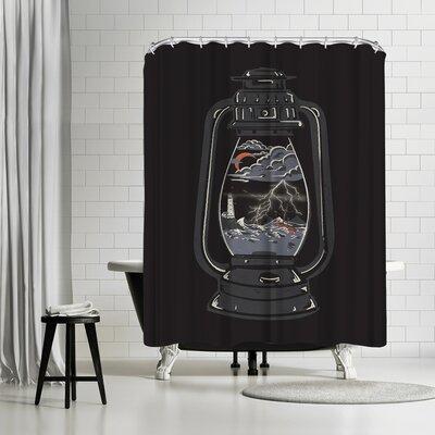 NDTank Storm Lantern Shower Curtain