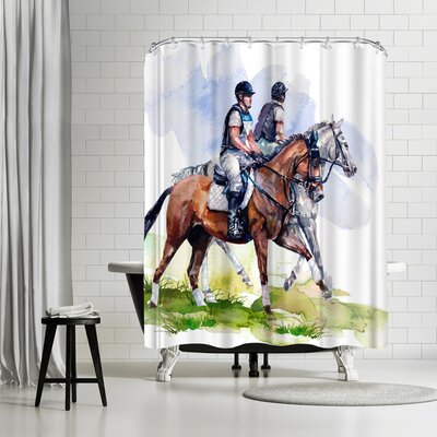 Harrison Ripley Morning Gallop Shower Curtain