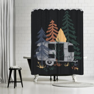 NDTank Wild Air Stream Shower Curtain