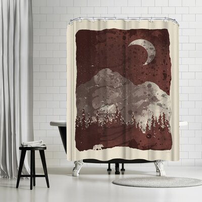 NDTank Winter Finds the Bear Shower Curtain