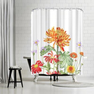 Solveig Studio Chrysanthemum Card Shower Curtain