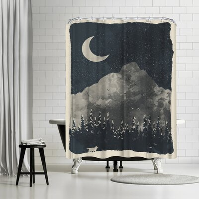 NDTank Winter Finds the Wolf Shower Curtain