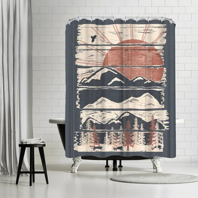 NDTank Winte R Pursuits Shower Curtain