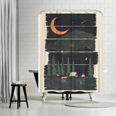 NDTank Wish I Was Camping Shower Curtain
