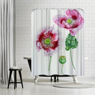 Solveig Studio Mauve Poppy Shower Curtain