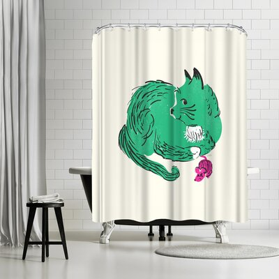 NDTank Cooper Shower Curtain