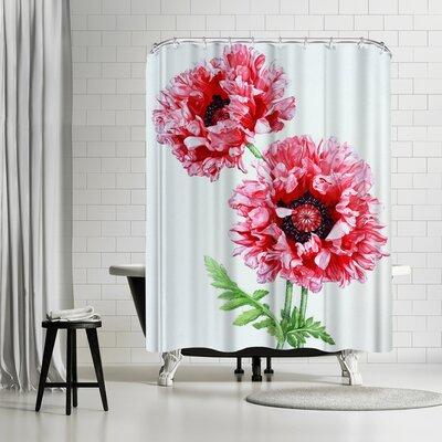 Solveig Studio Pink Oriental Poppy Shower Curtain