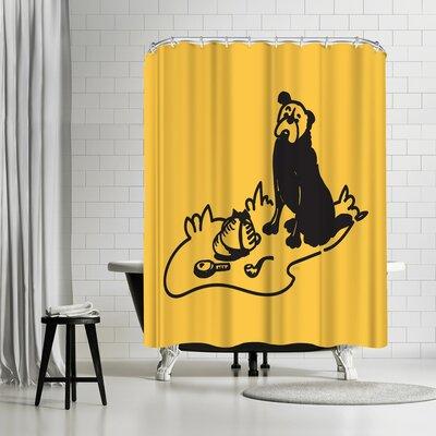 NDTank Curious Hound of Baskervilles Shower Curtain