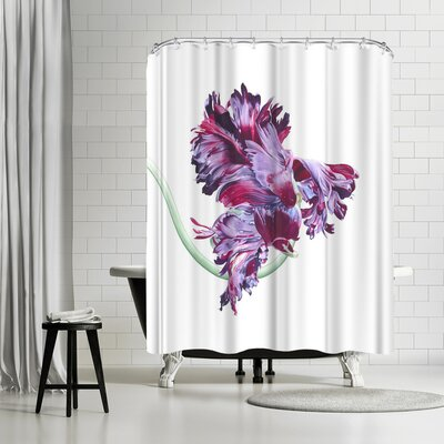Solveig Studio Black Parrot Tulip Shower Curtain