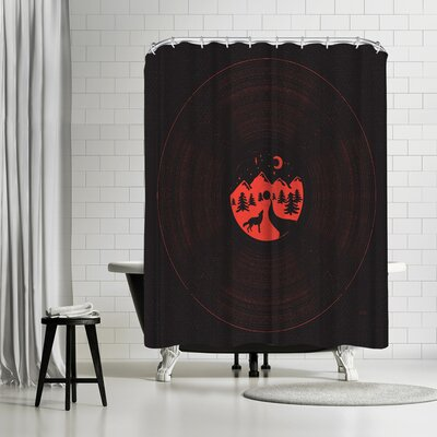 NDTank Midnight Aria Shower Curtain