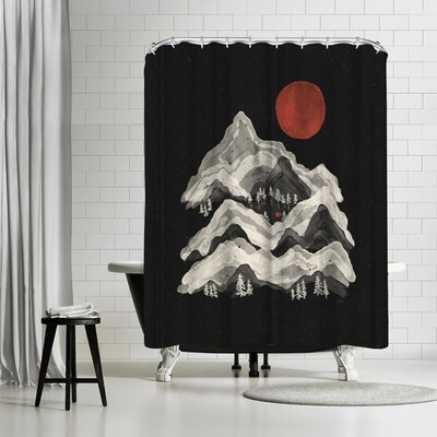 NDTank Moon Lake Shower Curtain