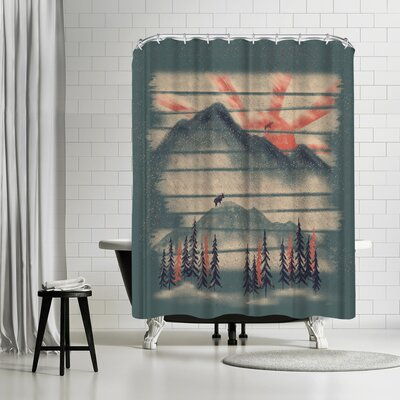 NDTank Mountain Goat Drifter Shower Curtain