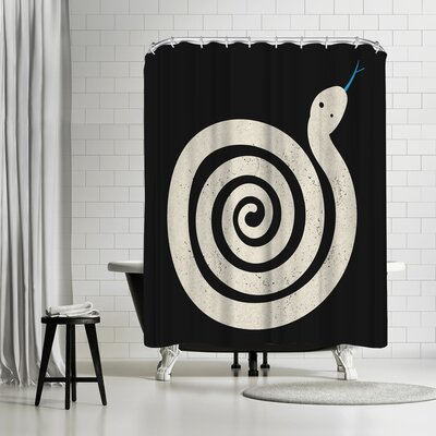 NDTank Sss Nake Shower Curtain