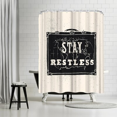 NDTank Stay Restless Shower Curtain