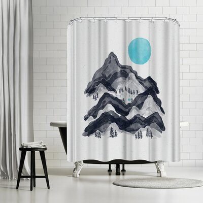 NDTank Sun in Moon Lake Shower Curtain