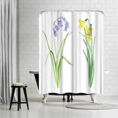 Solveig Studio Easter Flowers Shower Curtain