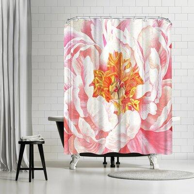 Solveig Studio Large Peach Peony Shower Curtain