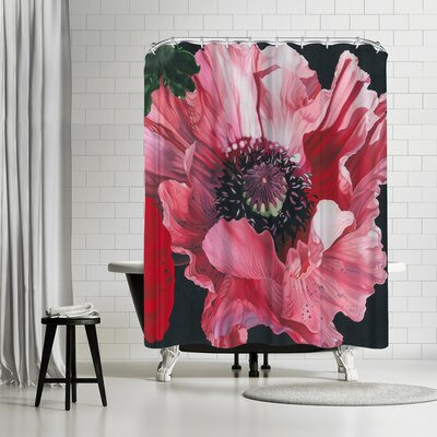 Elizabeth Hellman Oriental Poppy Shower Curtain