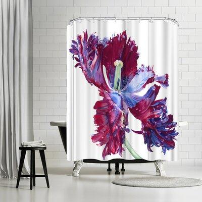 Elizabeth Hellman Parrot Tulip Shower Curtain