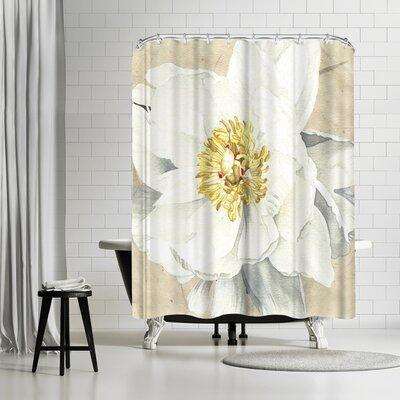 Elizabeth Hellman White Peony Shower Curtain