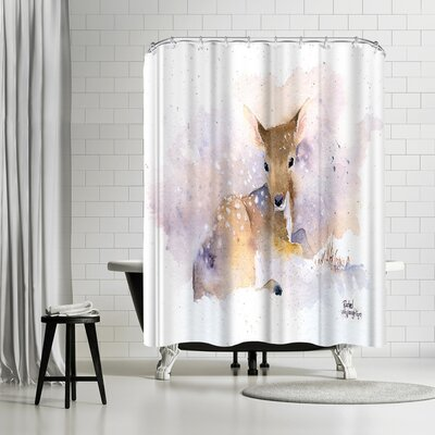 Rachel McNaughton Baby Deer Shower Curtain