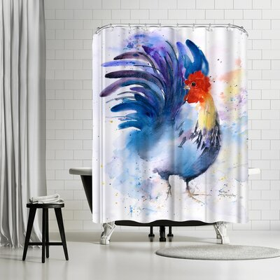 Rachel McNaughton Rooster Shower Curtain