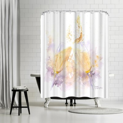 Rachel McNaughton Champagne Clink Shower Curtain