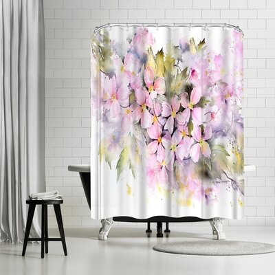Rachel McNaughton Clematis Montana Shower Curtain