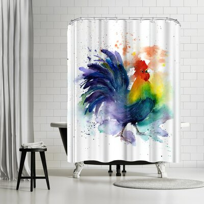 Rachel McNaughton Cock a Doodle Doo Shower Curtain