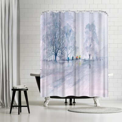 Rachel McNaughton Country Cyclists Shower Curtain