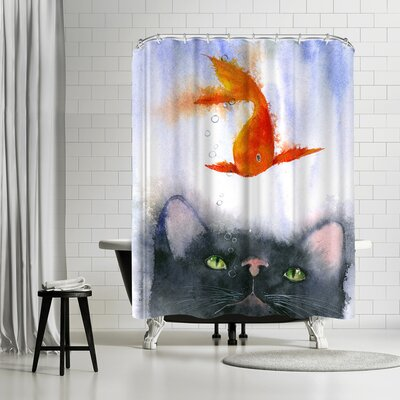 Rachel McNaughton Fish Supper Shower Curtain