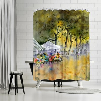 Rachel McNaughton Flower Market Shower Curtain