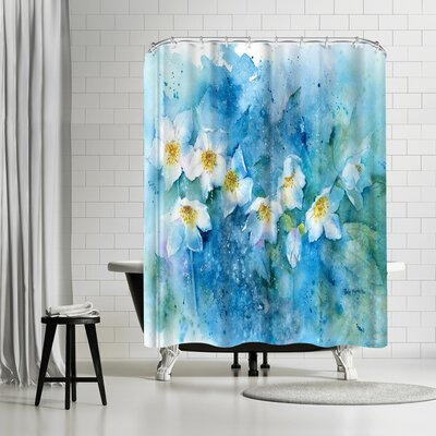 Rachel McNaughton Hellebores Shower Curtain